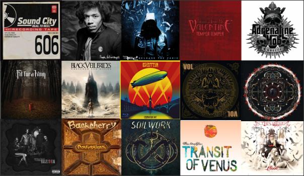 Billboard Hard Rock Album Charts 3-30-13