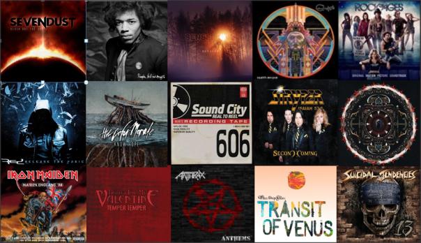 Billboard Hard Rock Albums Chart 4-13-13
