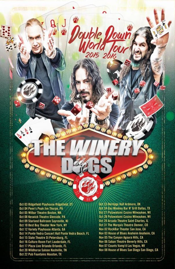 The Winery Dogs Double Down Tour 2015 2016